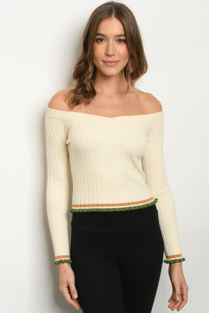 S11-3-1-T8730 IVORY SWEATER 3-2-1
