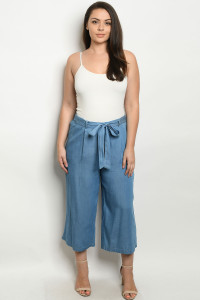 S14-11-4-P10440X BLUE DENIM PLUS SIZE PANTS 2-2-2