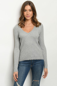 S9-3-2-T4993 GRAY SWEATER 4-2-1