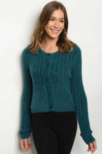 S10-21-1-S9216 TEAL SWEATER 3-2-1