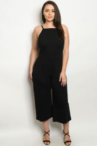 C10-A-1-J3210X BLACK PLUS SIZE JUMPSUIT 2-2-2