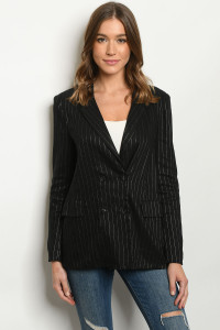 S10-5-1-J4732 BLACK STRIPES JACKET 3-2-1
