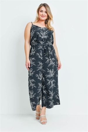 SA4-00-1-J97921X BLACK PRINT PLUS SIZE JUMPSUIT 2-2-2