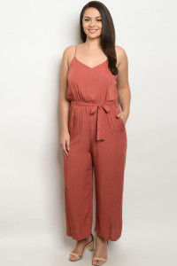 S19-11-2-J10385X BRICK PLUS SIZE JUMPSUIT 2-1-1