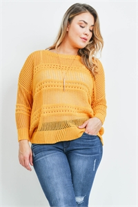S4-1-1-S10006X MUSTARD PLUS SIZE SWEATER 2-2-2