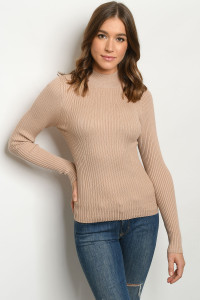S11-7-2-T3013 TAUPE SWEATER 2-2-2