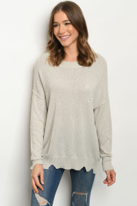 S20-1-1-S3210 GRAY SWEATER 2-2-2