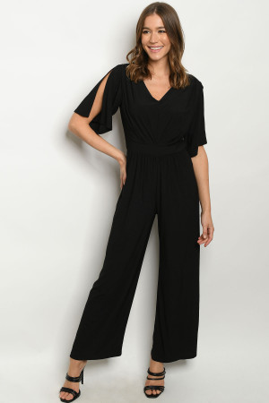 S14-4-2-J1498 BLACK JUMPSUIT 1-2-2