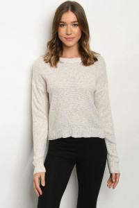 S12-1-1-S9120 OATMEAL SWEATER 3-2-1