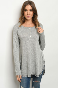 S14-4-2-T8231 HEATHER GRAY SWEATER 1-1-2