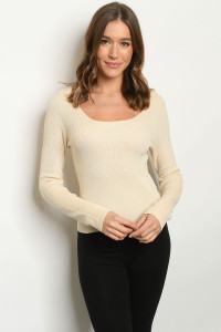 S9-8-2-T9464 CREAM SWEATER 3-2-1