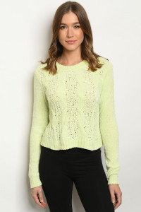 S9-8-2-S4556 LIME SWEATER 3-2-1
