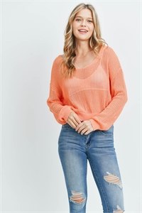 S14-4-2-T8438 ORANGE SWEATER 4-2-1