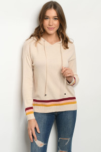 S14-4-2-S79301 SAND MULTI SWEATER 3-2-2