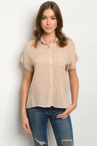 S15-8-1-T8148 TAUPE TOP 2-2-2