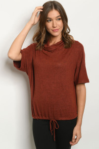C16-A-1-T4325 RUST SWEATER 2-2-2