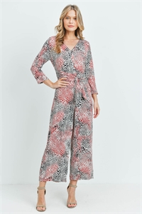 S8-7-1-J11210 BRICK ANIMAL PRINT JUMPSUIT 2-2-2