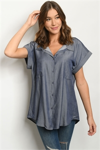 S20-12-3-T4378 DARK DENIM TOP 2-2-2