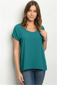 S23-13-2-T6939 TEAL TOP 3-2-1