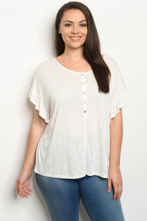 S15-12-3-T3098X OFF WHITE PLUS SIZE TOP 2-2-2