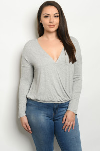S15-12-2-T3029X GRAY PLUS SIZE TOP 2-2-2