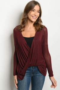 C26-A-1-T1559 BURGUNDY TOP 2-2-2