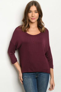 C38-B-1-T24821 BURGANDY TOP 3-2