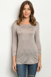 C36-A-2-T9520 TAUPE TOP 2-2-2