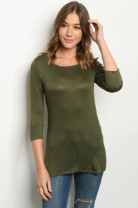 C46-A-2-T9520 DARK OLIVE TOP 2-2-2