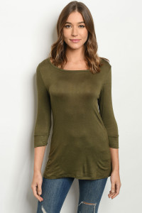 C50-A-2-T9520 OLIVE TOP 2-2-2
