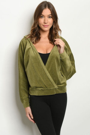 S11-20-1-S12470 OLIVE SWEATER 2-2-2