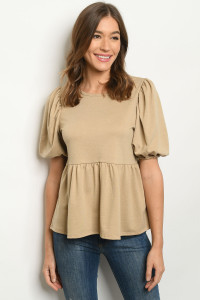C12-B-2-T31531 TAUPE TOP 2-2-2