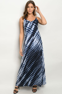 S13-9-2-D5038 NAVY TIE DYE DRESS 2-2-2