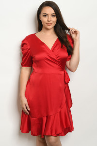 C52-A-1-D2328X RED PLUS SIZE DRESS 2-2-2