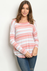 S18-7-1-T8873 MAUVE STRIPES TOP 2-3-3