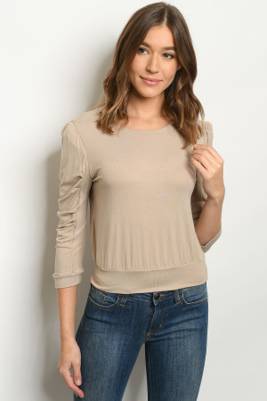 S11-19-1-T15006 TAUPE TOP 1-2-2-1