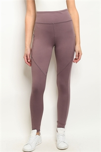 S22-11-1-L1031 MAUVE LEGGINGS YOGA PANTS 2-2-2