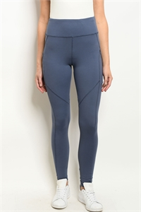 S19-12-1-L1031 BLUE DENIM LEGGINGS YOGA PANTS 2-2-2