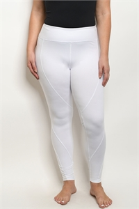 S15-7-1-L1032X WHITE PLUS SIZE LEGGINGS YOGA PANTS 2-2-2