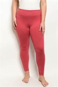 S21-8-1-L1032X CORAL PLUS SIZE LEGGINGS YOGA PANTS 2-2-2