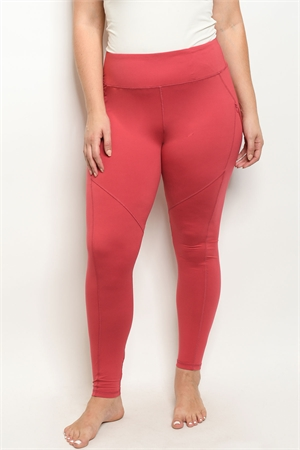 S15-10-1-L1031X CORAL PLUS SIZE LEGGINGS YOGA PANTS 3-2-2