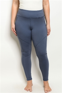 S15-10-1-L1031X BLUE DENIM PLUS SIZE LEGGINGS YOGA PANTS 3-2-2