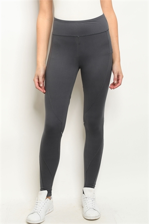 S23-12-2-L1032 CHARCOAL LEGGINGS YOGA PANTS 2-2-2