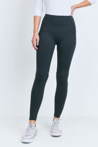 S23-13-1-L1032 BLACK LEGGINGS YOGA PANTS 2-2-2