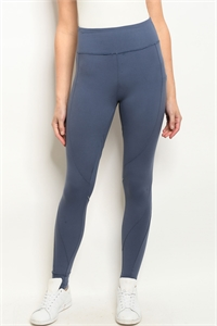 S23-13-1-L1032 BLUE DENIM LEGGINGS YOGA PANTS 2-2-2