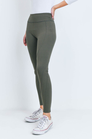 S14-10-2-L1032 OLIVE LEGGINGS YOGA PANTS 3-2-2