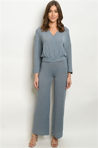 S11-8-1-SET52 BLUE TOP & PANTS SET 2-2-2