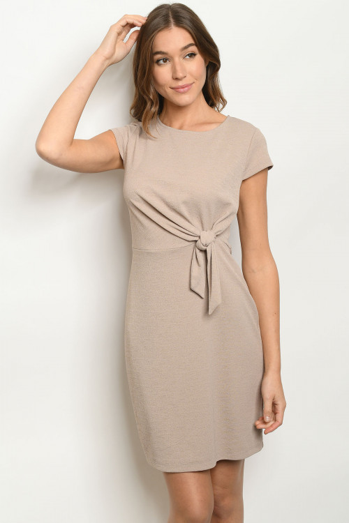 S11-19-2-D15682 TAUPE DRESS 2-2-2