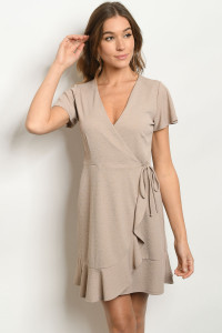 S11-18-1-D15916 TAUPE DRESS 2-2-2