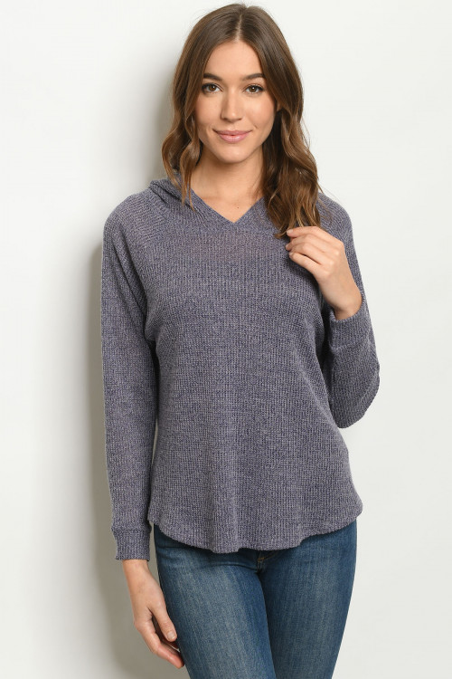 C6-B-3-T10456 NAVY SWEATER 3-2-1